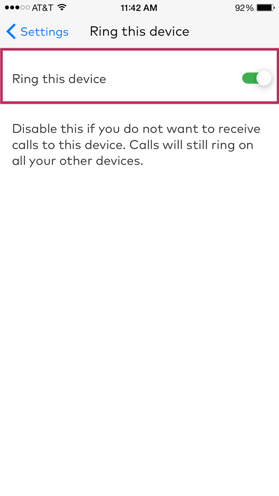 6dg toggling the ring this device will either enable or disable receiving calls to the mobile device kristyandbryce Choice Image